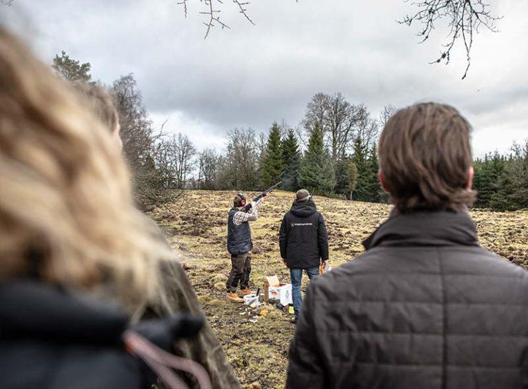 Lerduveskytte på Uddetorp Säteri